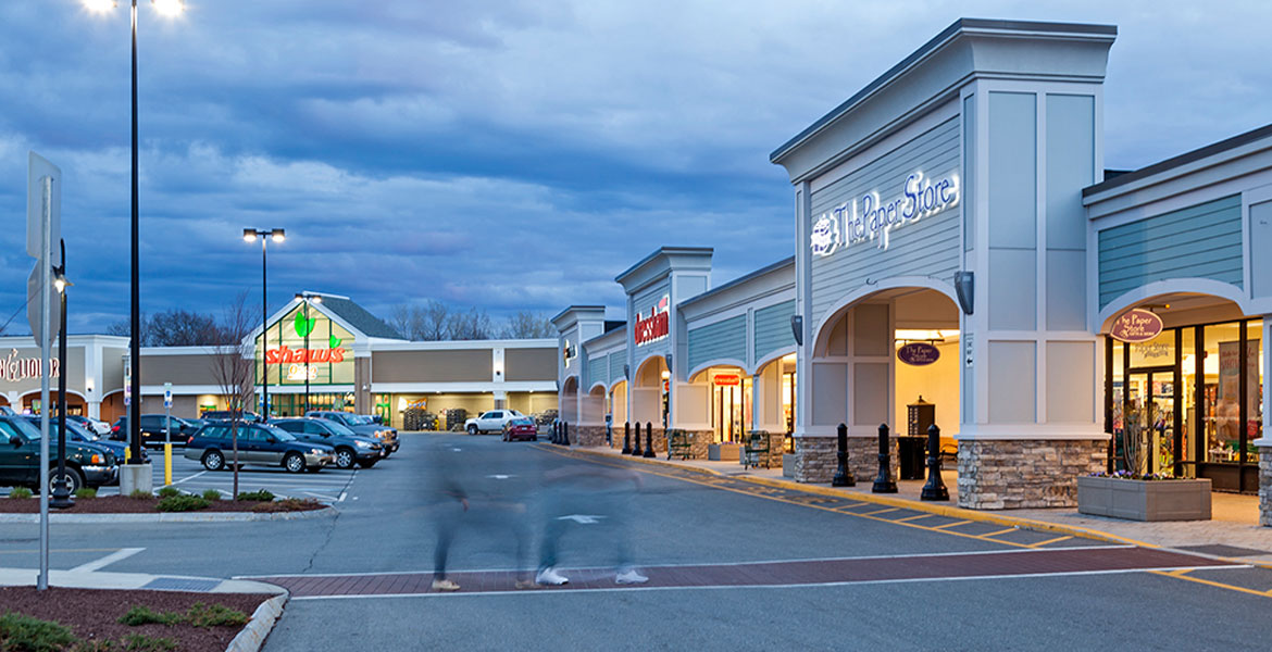 Shaw's, dressbarn and the Paper Store at White City Shopping Center